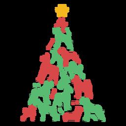 Perros lindos árbol de navidad