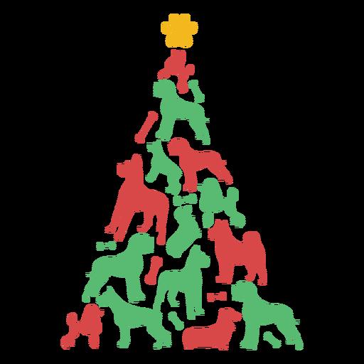 Árvore de natal de cachorros fofos