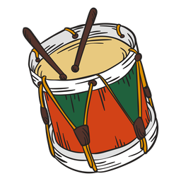 Cute drums illustration nutcracker