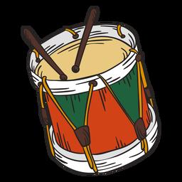 Ilustración de tambores lindo cascanueces