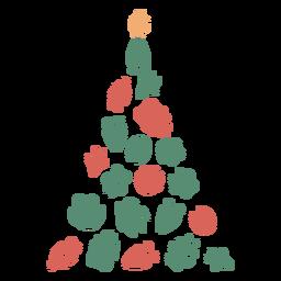 Lindo pie imprime árbol de navidad
