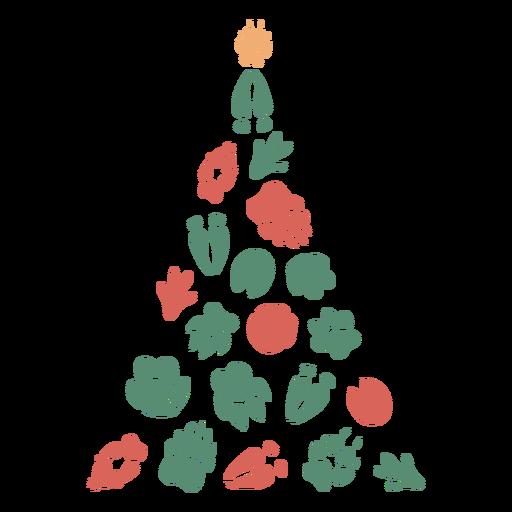 Pé bonito imprime árvore de Natal Transparent PNG