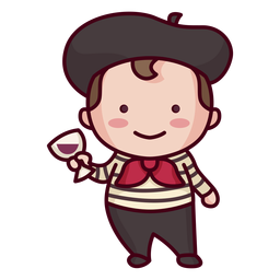 Cute french character