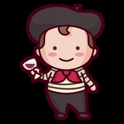Lindo personaje francés
