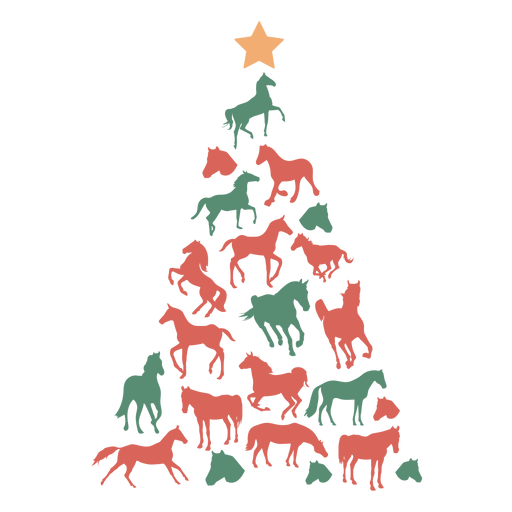 Árvore de Natal de cavalos fofos