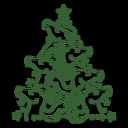 Caballos lindos árbol de navidad navidad