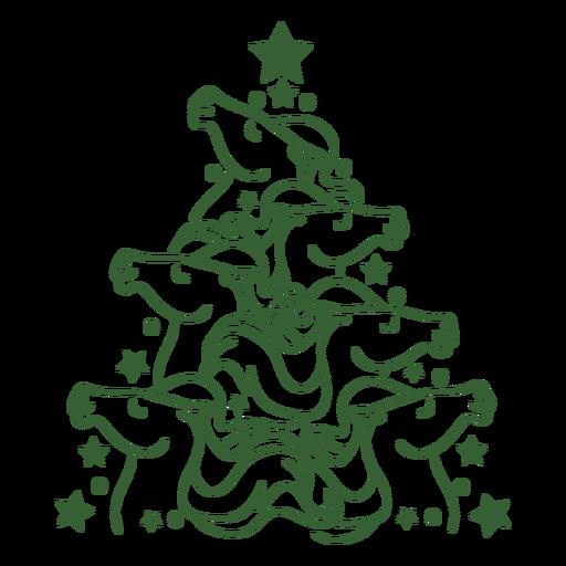 Cavalos fofos árvore de natal natal