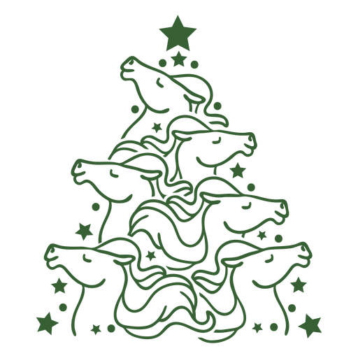 Cute horses christmas tree christmas Transparent PNG