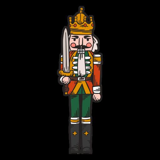 Rei do quebra-nozes fofo