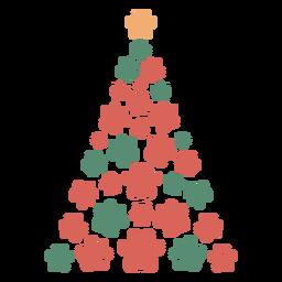 Lindo, patas, árbol de navidad