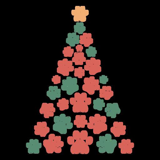 Cute paws christmas tree