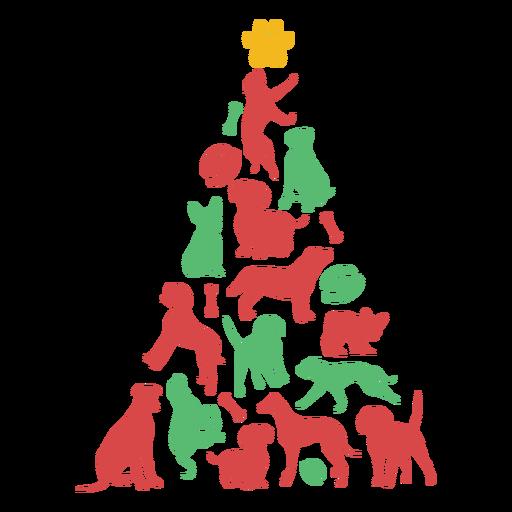 O filhote de cachorro bonito produz a árvore de Natal Transparent PNG