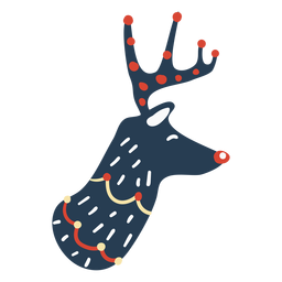 Cute reindeer head side view