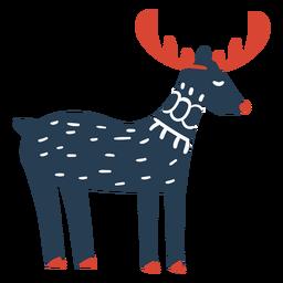 Vista lateral fofa de Rudolph