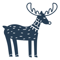 Rudolph bonito vista lateral azul