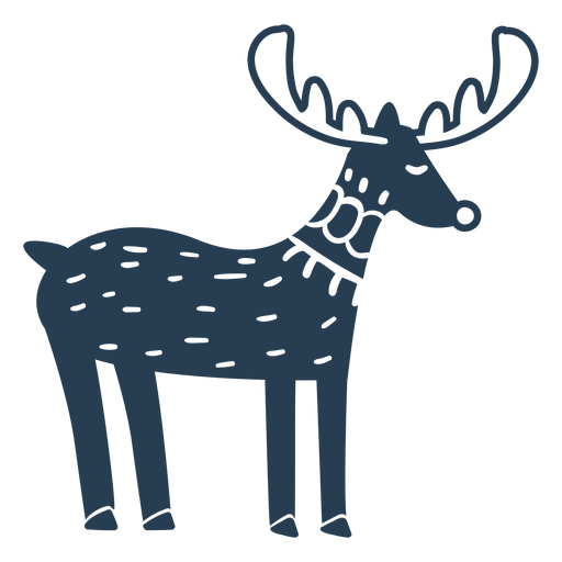 Cute rudolph side view blue Transparent PNG