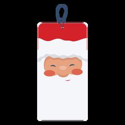 Cute santa face tag
