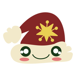 Cute santa hat element