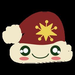 Elemento bonito de chapéu de Papai Noel