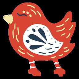 Lindo pájaro escandinavo