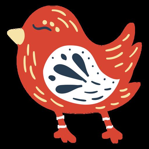 Cute scandinavian bird Transparent PNG
