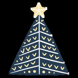 Bonita árvore de Natal escandinava