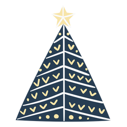 Cute scandinavian christmas tree