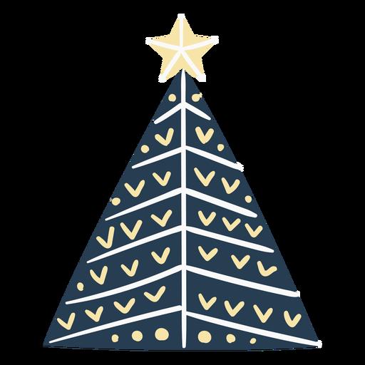 Cute scandinavian christmas tree Transparent PNG