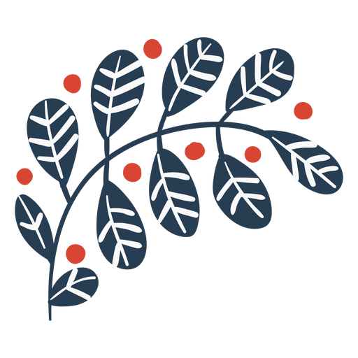 Cute scandinavian leaves Transparent PNG