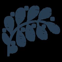 Folhas escandinavas bonitos azuis