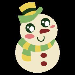 Elemento lindo muñeco de nieve