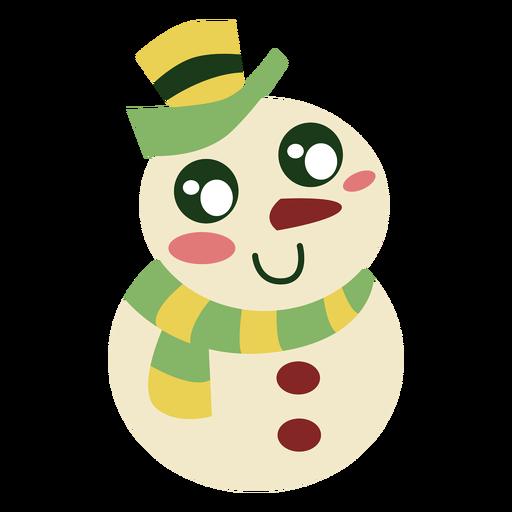 Elemento lindo muñeco de nieve Transparent PNG