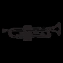 Cute trumpet stroke