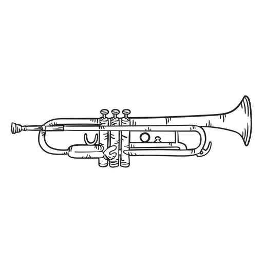 Cute trumpet stroke Transparent PNG