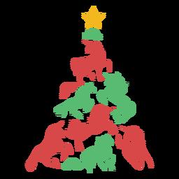 Cute unicorns christmas tree