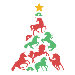 Unicornios lindos arbol de navidad