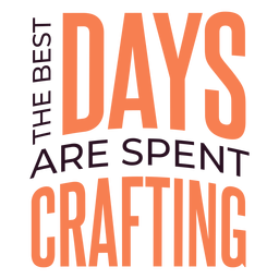 Days spent crafting lettering