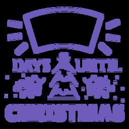 Días hasta la cuenta regresiva de navidad