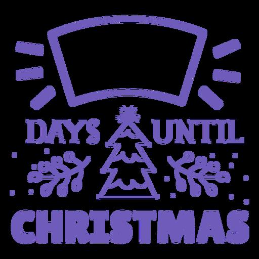 Días hasta la cuenta regresiva de Navidad Transparent PNG