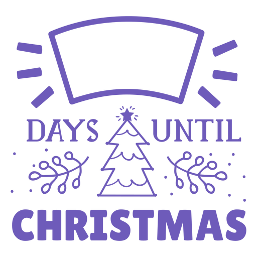 Days until christmas countdown Transparent PNG