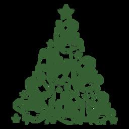 Árvore de Natal de dinossauros