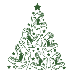 Dinosaurs christmas tree