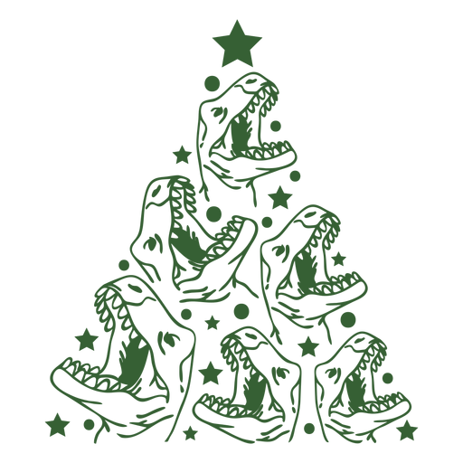 Árvore de Natal de dinossauros Transparent PNG