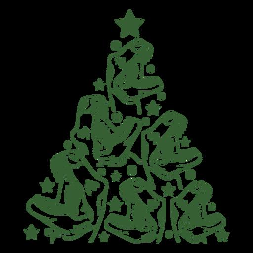 Árbol de navidad de dinosaurios