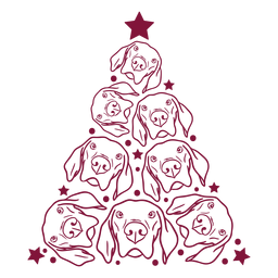 Cães, árvore natal