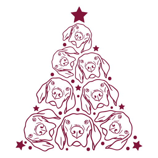 Dogs christmas tree Transparent PNG