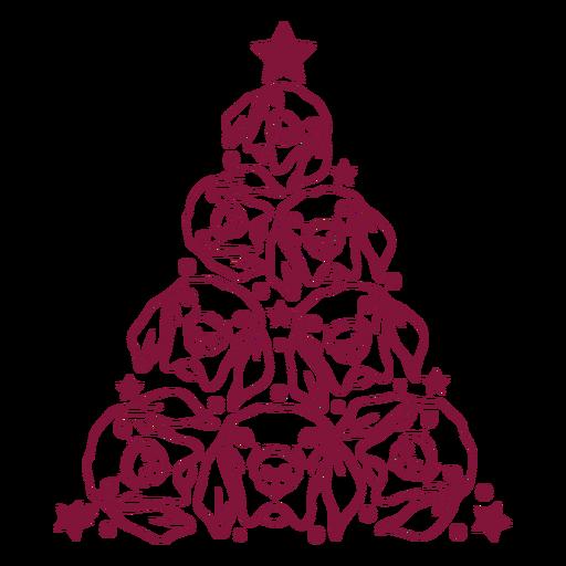 Dogs christmas tree