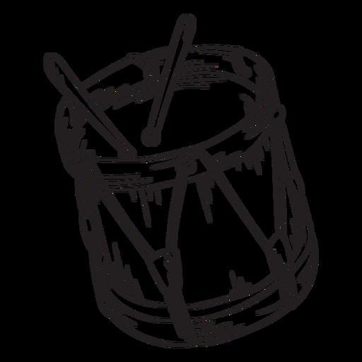 Drums cute stroke Transparent PNG