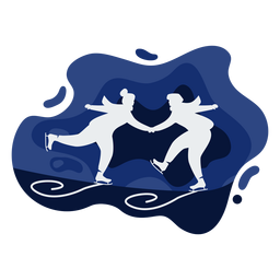 Papercut de patinaje sobre hielo Duo