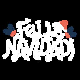 Feliz navidad lettering lettering